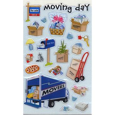 Sandylion - Epoxy Stickers - Moving Day