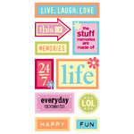Sandylion - Essentials - Kelly Panacci Collection - Hand Made Stickers - Funtastik Words, CLEARANCE