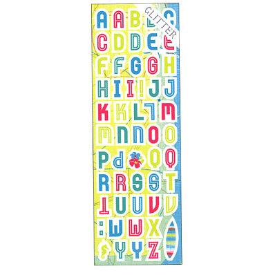 Sandylion - Rouge de Garance - Fleur de Taire Collection - Cardstock Alphabet Stickers - Letters Home, CLEARANCE