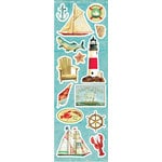 Sandylion - At The Coast Collection - Clear Stickers - Icons