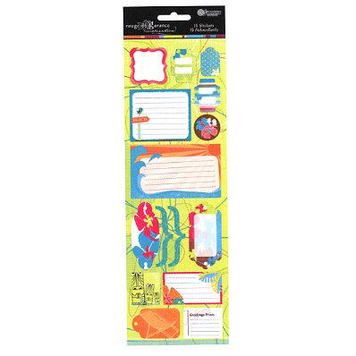 Sandylion - Rouge de Garance - Fleur de Taire Collection - Cardstock Stickers - Travel Log, CLEARANCE
