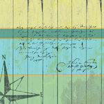 Sandylion - At The Coast Collection - 12x12 Paper - Board Walk - Ocean - Swim - Beach