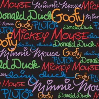Sandylion - Disney Collection - 12x12 Paper - Mickey - Autographs
