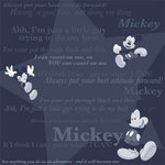 Sandylion - Disney Collection - 12x12 Paper - Mickey - Black Tonal Phrases