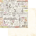 Sandylion - Kelly Panacci - His and Hers Collection - 12 x 12 Double Sided Paper - Color Me with Love