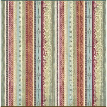 Sandylion - Kelly Panacci Collection - Christmas - 12x12 Paper - Florentine Ribbons