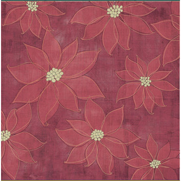Sandylion - Kelly Panacci Collection - Christmas - 12x12 Paper - Poinsettias
