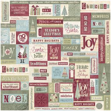 Sandylion - Kelly Panacci Collection - Christmas - 12x12 Paper - Season's Greetings