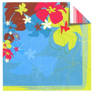 Sandylion - Rouge de Garance - Fleur de Taire Collection - 12x12 Doublesided Paper - Heat Wave, CLEARANCE