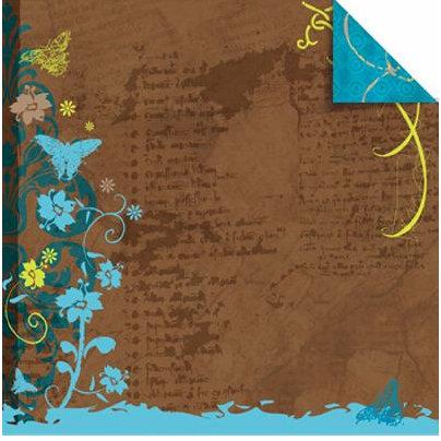 Sandylion - Rouge de Garance - Ailes ou Fleurs Collection - 12x12 Double Sided Paper - Butterfly Love, CLEARANCE