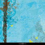 Sandylion - Rouge de Garance - Ailes ou Fleurs Collection - 12x12 Double Sided Paper - Letters in the Sky