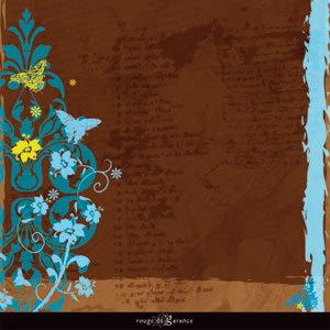 Sandylion - Rouge de Garance - Ailes ou Fleurs Collection - 12x12 Double Sided Paper - Fly Away
