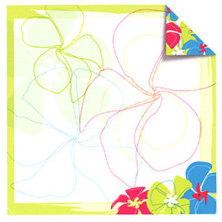 Sandylion - Rouge de Garance - Fleur de Taire Collection - 12x12 Doublesided Paper - Tropical Fever, CLEARANCE