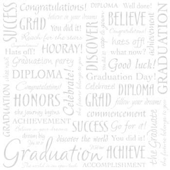 Sandylion Paper - Graduation Words on White