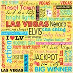 Sandylion - Las Vegas Collection - 12x12 Paper - Las Vegas Phrase