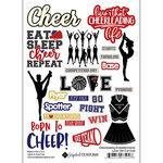 Scrapbook Customs - Sports Addict Collection - Embellishments - Laser Cuts - Cheerleading