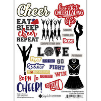 Scrapbook Customs - Sports Addict Collection - Embellishments - Laser Cuts - Cheerleading
