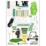 Scrapbook Customs - Sports Addict Collection - Embellishments - Laser Cuts - Golf