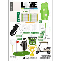 Scrapbook Customs - Sports Addict Collection - Embellishments - Laser Cuts - Golf