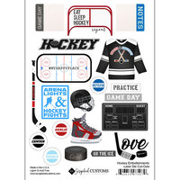 Scrapbook Customs - Sports Addict Collection - Embellishments - Laser Cuts - Hockey