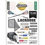 Scrapbook Customs - Sports Addict Collection - Embellishments - Laser Cuts - Lacrosse