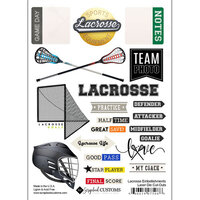 Scrapbook Customs - Sports Addict Collection - Embellishments - Laser Cuts - Lacrosse