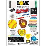 Scrapbook Customs - Sports Addict Collection - Embellishments - Laser Cuts - Softball