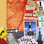 Scrapbook Customs - United States Collection - New Jersey - 12 x 12 Paper