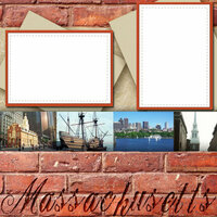 Scrapbook Customs - United States Collection - Massachusetts - 12 x 12 Paper