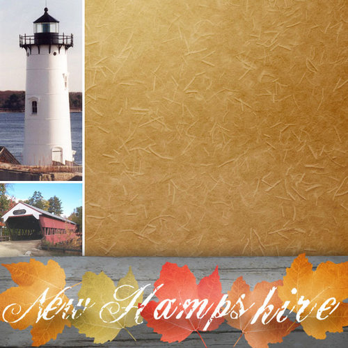 Scrapbook Customs - United States Collection - New Hampshire - 12 x 12 Paper