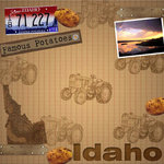 Scrapbook Customs - United States Collection - Idaho - 12 x 12 Paper