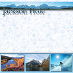 Scrapbook Customs - United States Collection - Wyoming - 12 x 12 Paper - Jackson Hole