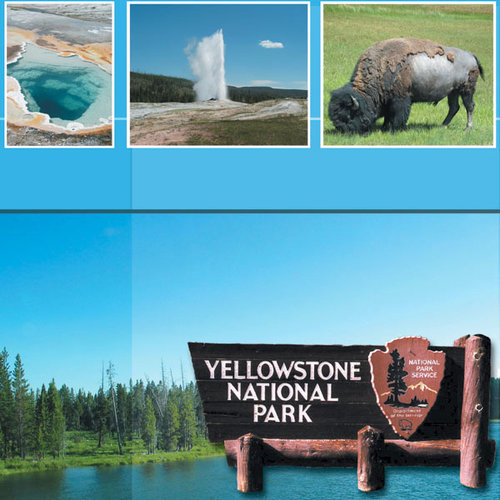 Scrapbook Customs - United States Collection - Wyoming - 12 x 12 Paper - Yellowstone