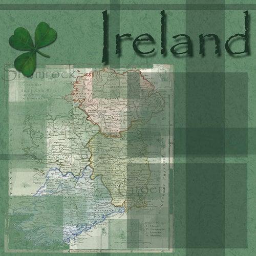 Scrapbook Customs - World Collection - Ireland - 12 x 12 Paper
