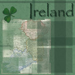 Scrapbook Customs - World Collection - Ireland - 12 x 12 Paper
