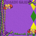 Scrapbook Customs - United States Collection - Louisiana - 12 x 12 Paper - Mardi Gras