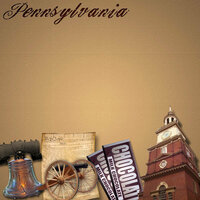 Scrapbook Customs - United States Collection - Pennsylvania - 12 x 12 Paper