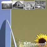 Scrapbook Customs - United States Collection - Missouri - 12 x 12 Paper