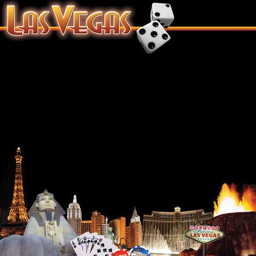 Scrapbook Customs - United States Collection - Nevada - 12 x 12 Paper - Las Vegas