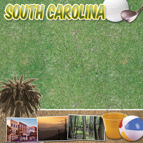 Scrapbook Customs - United States Collection - South Carolina - 12 x 12 Paper