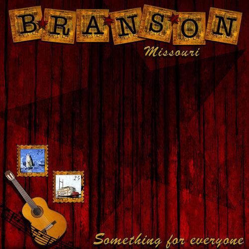 Scrapbook Customs - United States Collection - Missouri - 12 x 12 Paper - Branson Missouri