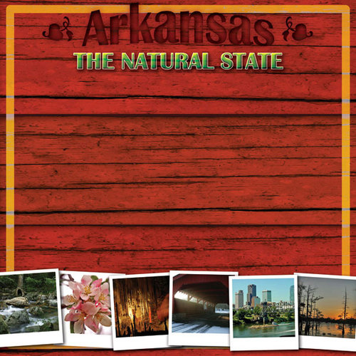 Scrapbook Customs - United States Collection - Arkansas - 12 x 12 Paper