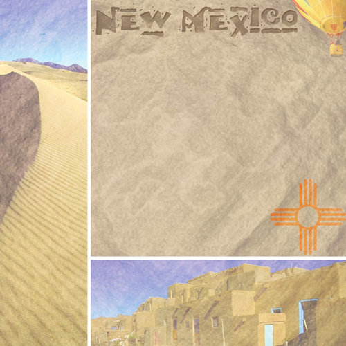 Scrapbook Customs - United States Collection - New Mexico - 12 x 12 Paper