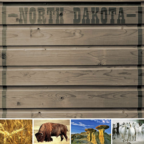 Scrapbook Customs - United States Collection - North Dakota - 12 x 12 Paper