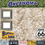 Scrapbook Customs - United States Collection - Oklahoma - 12 x 12 Paper