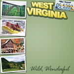 Scrapbook Customs - United States Collection - West Virginia - 12 x 12 Paper