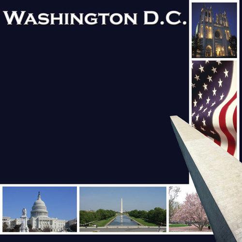 Scrapbook Customs - United States Collection - Washington DC - 12 x 12 Paper