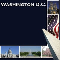 Scrapbook Customs - United States Collection - Washington DC - 12 x 12 Paper