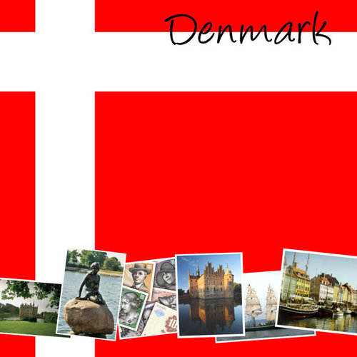 Scrapbook Customs - World Collection - Denmark - 12 x 12 Paper
