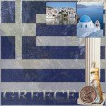 Scrapbook Customs - World Collection - Greece - 12 x 12 Paper